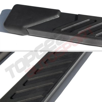 2008 Ford F250 Super Duty SuperCab Step Running Boards Black 4 Inches