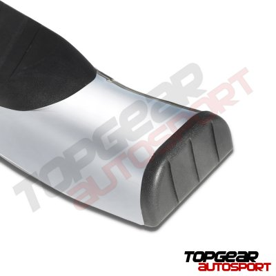 Ford F250 Super Duty 2017-2019 SuperCab Step Bars Curved Stainless 5 Inches