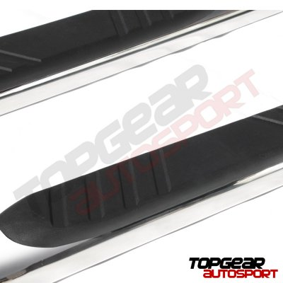 Nissan Titan Crew Cab 2004-2015 Step Bars Curved Stainless 5 Inches