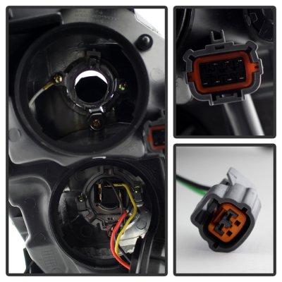 Infiniti G35 Sedan 2005-2006 Black HID Headlights