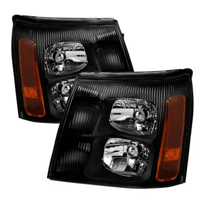 Cadillac Escalade 2003-2006 Black HID Headlights