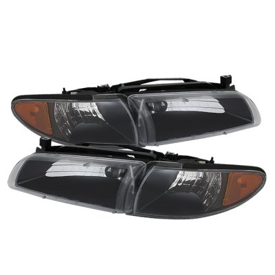 Pontiac Grand Prix 1997-2003 Black Headlights and Corner Lights