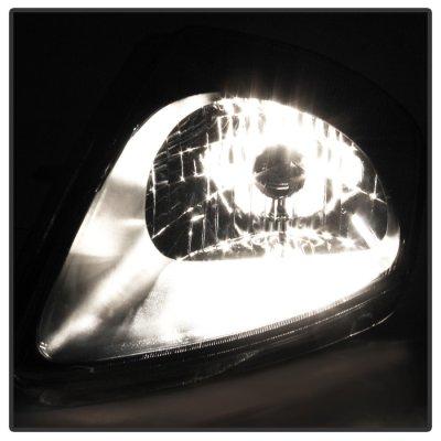 Mitsubishi Eclipse 2000-2005 Black Headlights