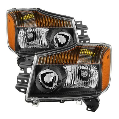 Nissan Titan 2004-2015 Black Headlights