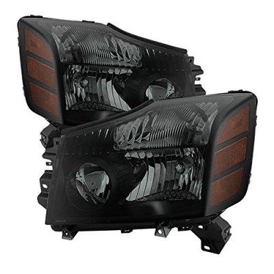 Nissan Armada 2004-2007 Black Smoked Headlights