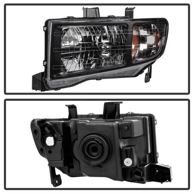 Honda Ridgeline 2006-2013 Black Headlights