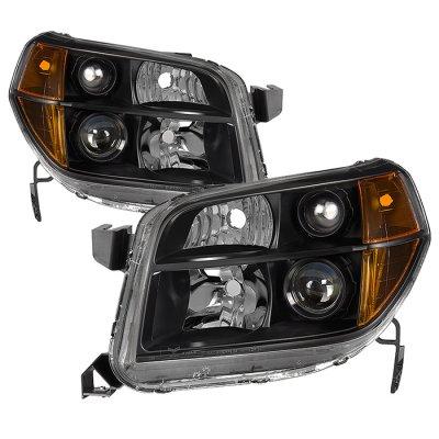 Honda Pilot 2006-2008 Black Headlights
