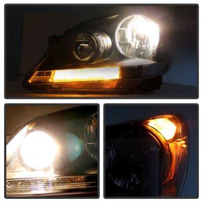 Honda Odyssey 2005 2007 Black Headlights