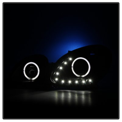 Lexus GS300 1998-2005 Black LED Halo Projector Headlights