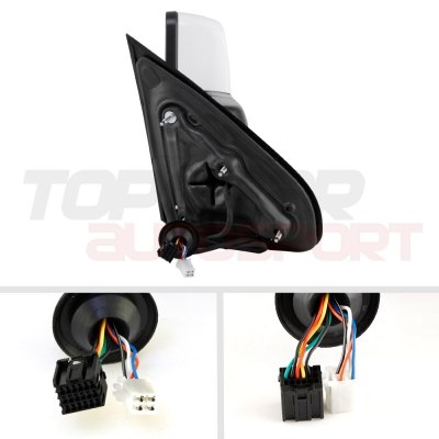 Chevy Silverado 2500HD 2015-2019 White Towing Mirrors Smoked LED Signal Power Heated