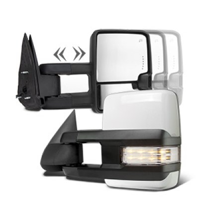 GMC Yukon 2003-2006 White Towing Mirrors Clear LED Signal Power Heated