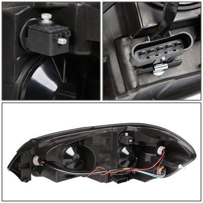 Chevy Impala 2006-2016 Black Headlights Tube DRL