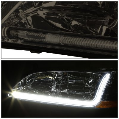 Honda Accord 1998-2002 Smoked Headlights Tube DRL