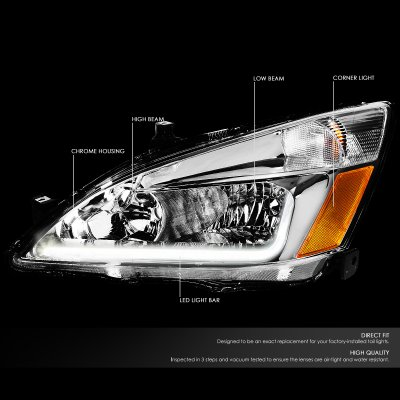 Honda Accord 2003-2007 Headlights Tube DRL