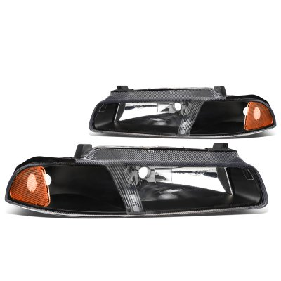 Dodge Stratus 1995-2000 Black Headlights