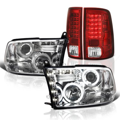 Dodge Ram 2009-2018 Halo Projector Headlights and LED Tail Lights