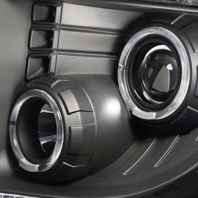 Ford F150 2009-2014 Black Halo Projector Headlights
