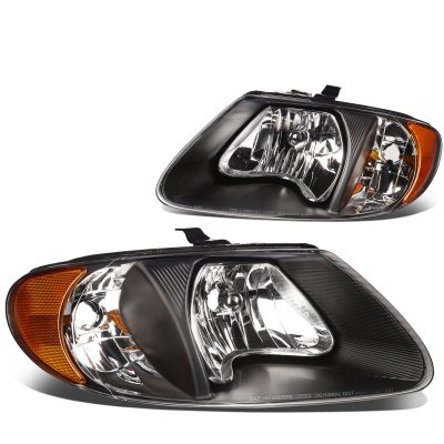 Dodge Caravan 2001-2007 Black Headlights