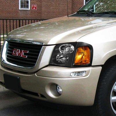 Gmc Envoy 2002 2009 Black Headlights A1354zmm102