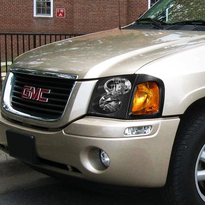 GMC Envoy 2002-2009 Black Headlights