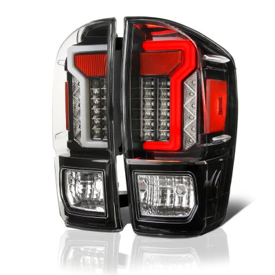 Toyota Tacoma 2016-2020 Black Custom LED Tail Lights ...