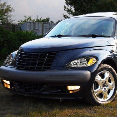 Chrysler Pt Cruiser 2001 2005 Black Headlights