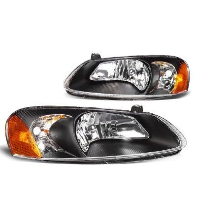 Chrysler Sebring Sedan 2001 2003 Black Headlights A135i2iq102 Topgearautosport
