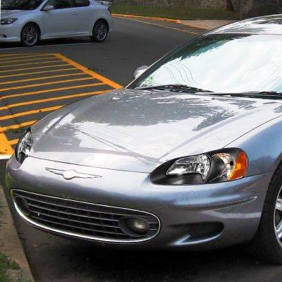 Chrysler Sebring Sedan 2001 2003 Black Headlights