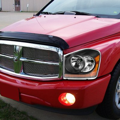 Dodge Durango 2004 2005 Black Headlights