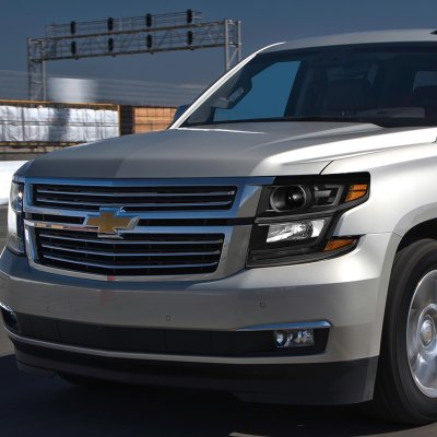 Chevy Tahoe 2017 Black Projector Headlights Led Drl