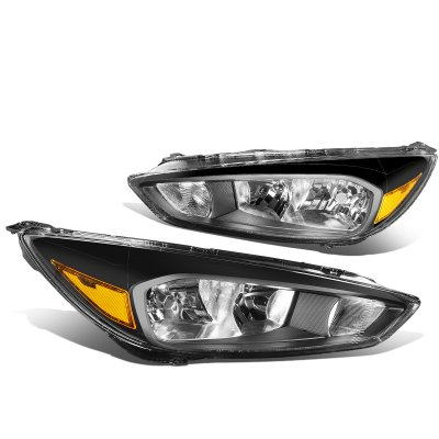 Ford Focus 2015-2017 Black Headlights