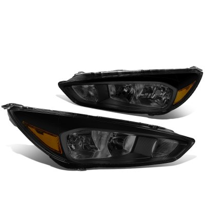 Ford Focus 2015-2017 Black Smoked Headlights