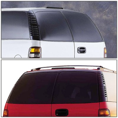 Chevy Suburban Barn-Door 2000-2004 Black Smoked LED Third Brake Light