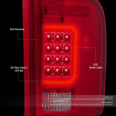 Chevy Silverado 2500HD 2007-2014 LED Tail Lights C-Tube