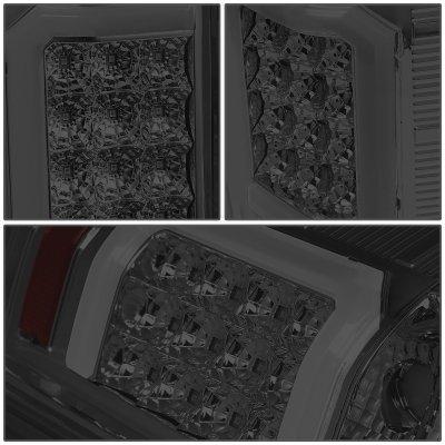 Chevy Silverado 2500HD 2007-2014 Smoked LED Tail Lights C-Tube