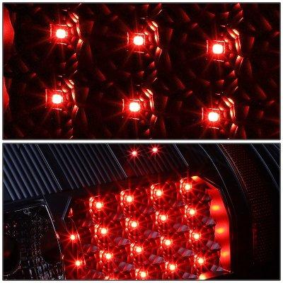 Chevy Silverado 2500HD 2007-2014 Black LED Tail Lights