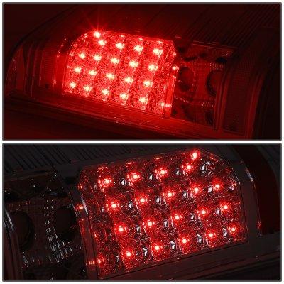 Chevy Silverado 2500HD 2007-2014 Smoked LED Tail Lights
