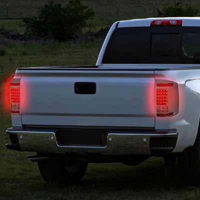 Chevy Silverado 2500HD 2007-2014 Smoked LED Tail Lights