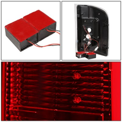 Chevy Silverado 2500HD 2007-2014 LED Tail Lights Red C-Tube