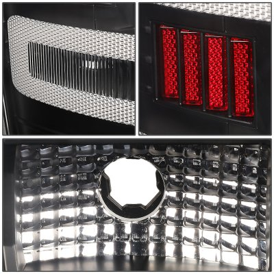 Chevy Silverado 2500HD 2015-2019 Black LED Tail Lights C-Tube