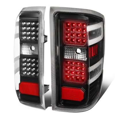 Chevy Silverado 2014-2018 Black LED Tail Lights