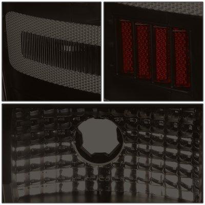 Chevy Silverado 2014-2018 Black Smoked LED Tail Lights