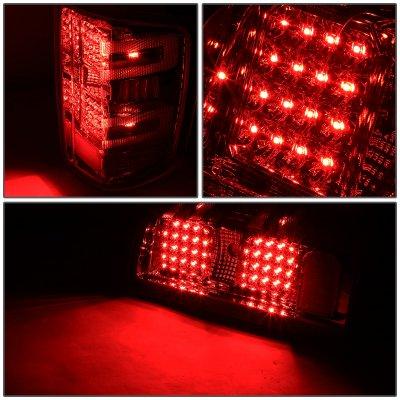 Chevy Silverado 2014-2018 Smoked LED Tail Lights