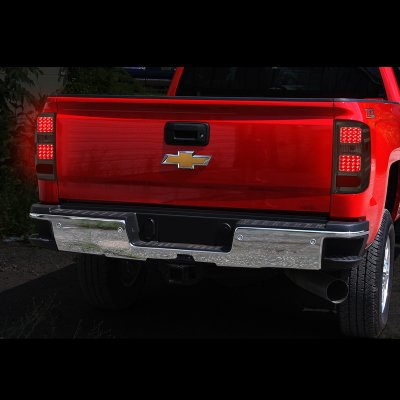 Chevy Silverado 2500HD 2015-2019 Smoked LED Tail Lights
