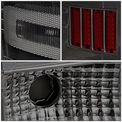 Chevy Silverado 2014-2018 Smoked LED Tail Lights Red C-Tube