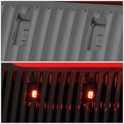 Dodge Ram 2009-2017 Smoked LED Tail Lights C-Tube