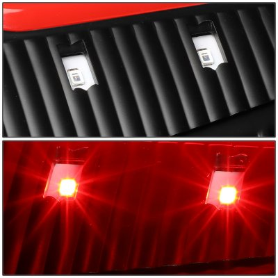 Dodge Ram 2009-2017 Black LED Tail Lights Red C-Tube
