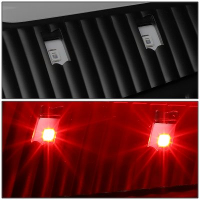 Dodge Ram 2009-2017 Black Smoked LED Tail Lights Red C-Tube