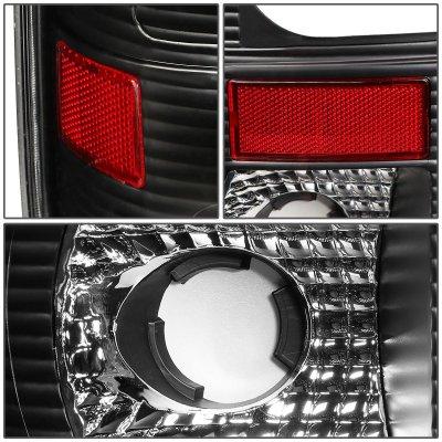 Ford F150 1997-2003 Black LED Tail Lights C-Tube