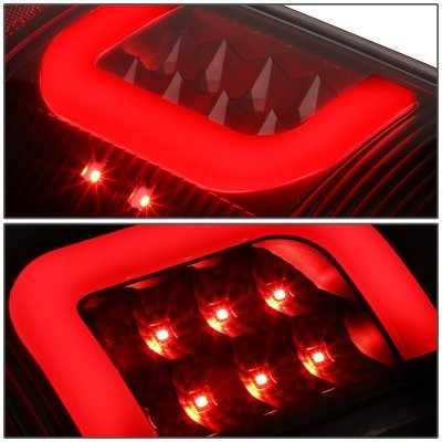 Ford F150 1997-2003 Black LED Tail Lights C-Tube